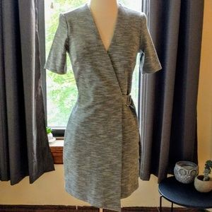 NWT Topshop gray stretchy belted wrap dress 2